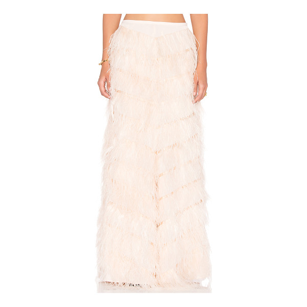 LINE & DOT Amelie ostrich skirt - Poly blend. Dry clean only. Fully lined. Feathers...