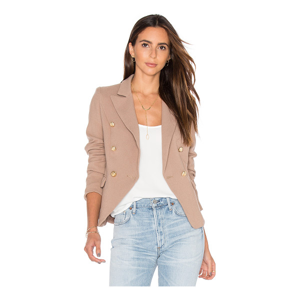 LIONESS Palermo Blazer - 100% poly. Front double breasted button closure. Side flap...