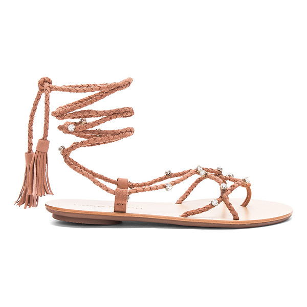 LOEFFLER RANDALL Bo Sandal - Braided suede upper with rubber sole. Laced front with...