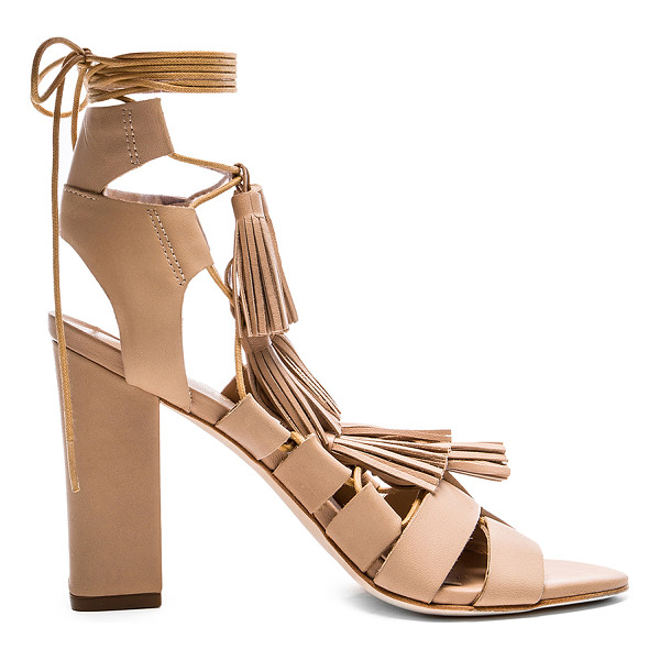 LOEFFLER RANDALL Luz heel - Leather upper and sole. Multi tassel accents. Lace-up front...