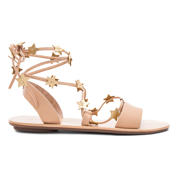 LOEFFLER RANDALL Starla Sandal - Leather upper with rubber sole. Lace-up front with wrap tie