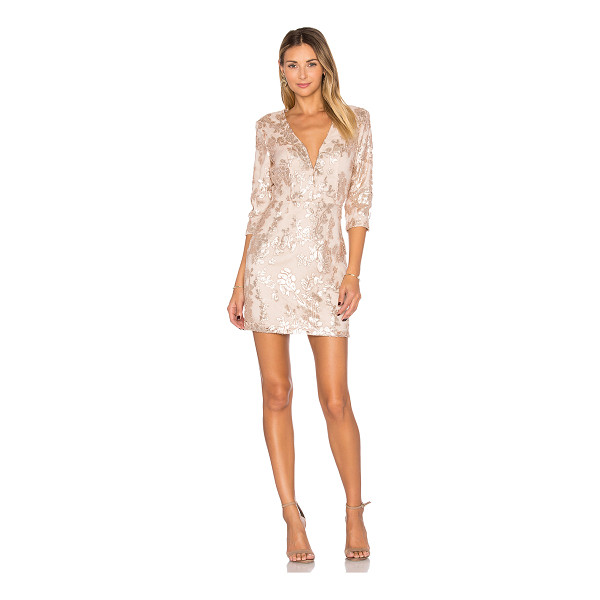 LOVERS + FRIENDS Fading Winter Dress - Live your life like it's golden. The subtle gold-tone...