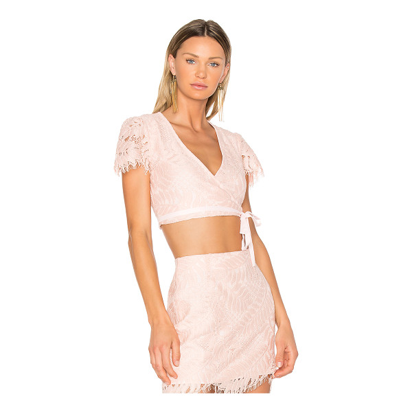 LOVERS + FRIENDS It's A Wrap Top - Embrace the romance in elegant lace and blush hues. The...