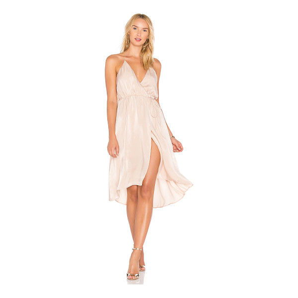 LOVERS + FRIENDS X REVOLVE Aaren Dress - 100% poly. Dry clean only. Fully lined. Halter neck tie...
