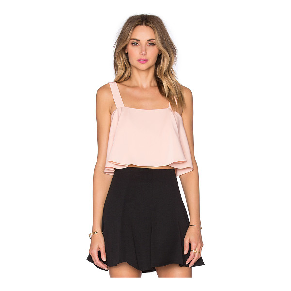 LOVERS + FRIENDS X revolve bouffant crop top - 97% poly 3% elastane. Hand wash cold. Exposed back zipper...
