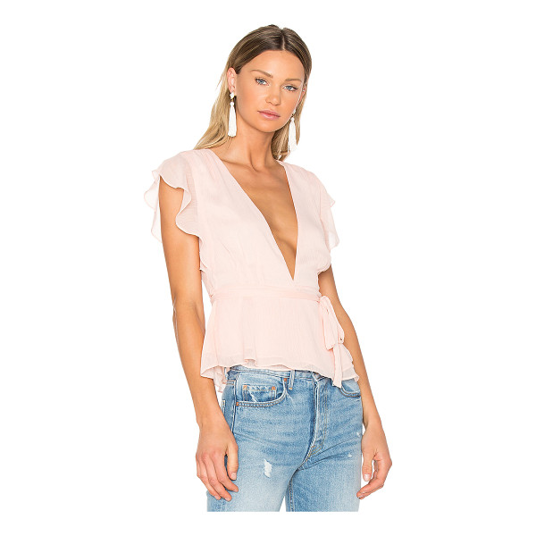 LOVERS + FRIENDS x REVOLVE Butterfly Blouse - Ruffle up your usual charm in the Lovers + Friends...