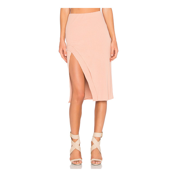 LOVERS + FRIENDS x REVOLVE Kelsey Skirt - Cotton blend. Hand wash cold. Fully lined. Elastic waist....
