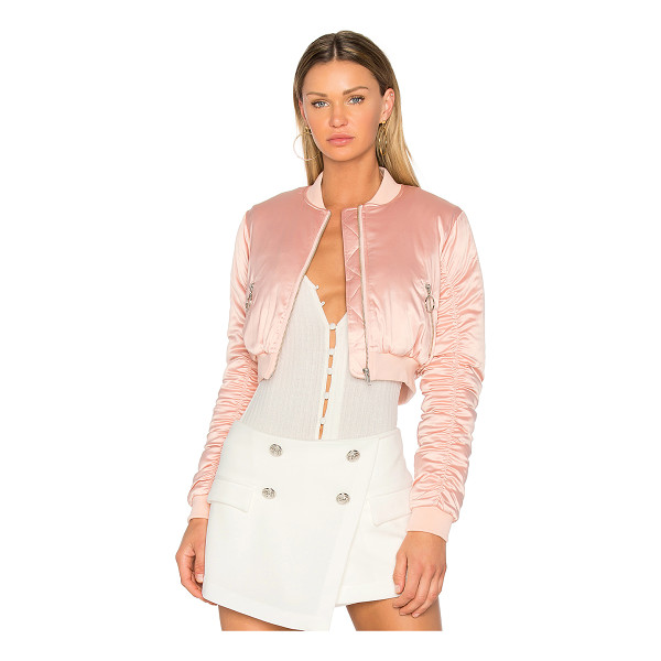 LOVERS + FRIENDS x REVOLVE Short Love Bomber - Blush your way into a stacked jacket collection with Lovers...