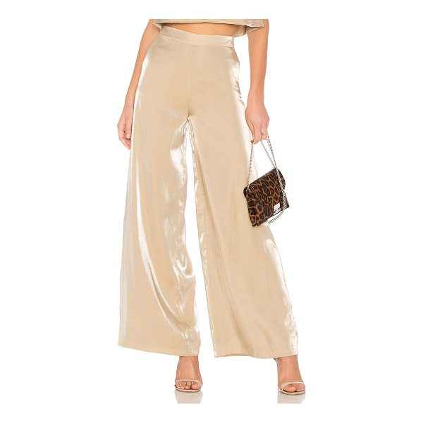 "LOVERS + FRIENDS Zoey Wide Leg Pants - ""Self: 67% rayon 33% nylonLining: 97% poly 3% spandex. Hand..."