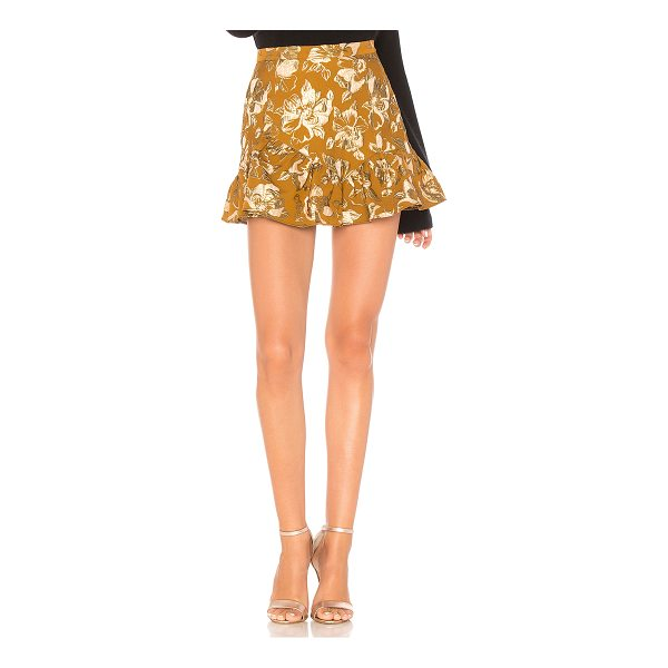 """LOVESHACKFANCY Eliza Skirt - """"Poly blend. Hand wash cold. Fully lined. Metallic floral..."""