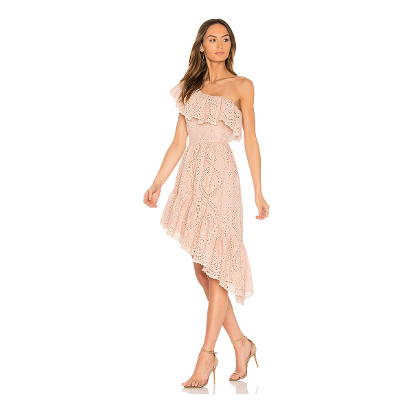 LOVESHACKFANCY Pamela Party Dress - Cotton blend. Dry clean only. Fully lined. Draped ruffle...