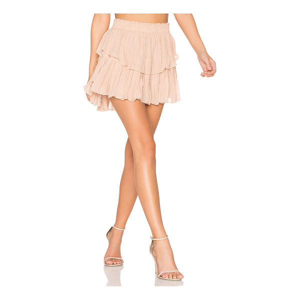 LOVESHACKFANCY Ruffle Mini Skirt - Self: 100% silkLining: 100% poly. Dry clean only. Fully...