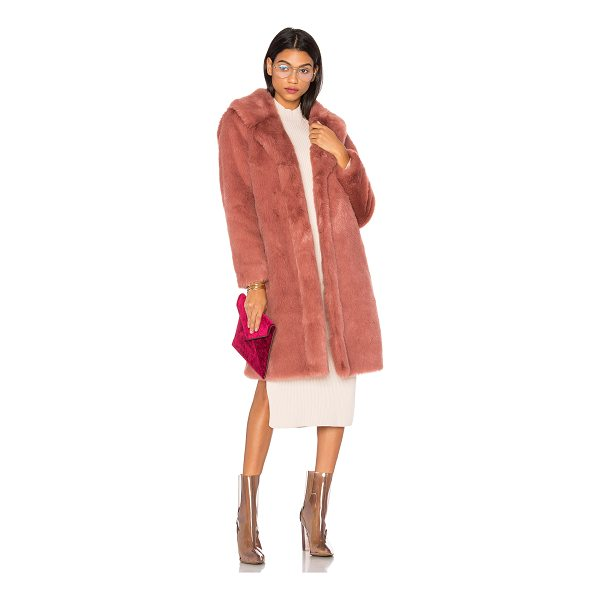 LPA Faux Fur Coat 111 - Get into the depths of fashion with Coat 111 by LPA. A deep...