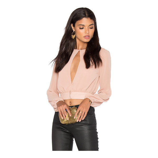 LPA Top 42 - Get a peek of Studio 54. Crafted from blush Georgette...