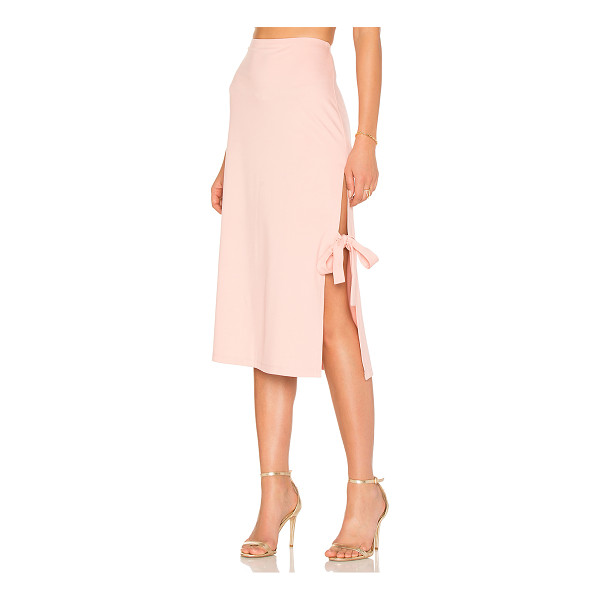"LPA x REVOLVE Skirt 263 - ""Mind your midi in the Skirt 263. Ponte fabric keeps the..."