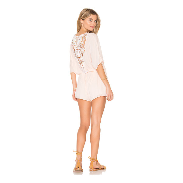 L*SPACE Alexis Romper - Self & Lining: 100% rayon. Hand wash cold. Surplice...