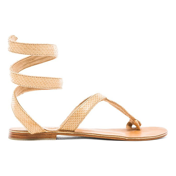 L*SPACE by Cocobelle Snake Wrap Sandal - Snake embossed leather upper with leather sole. Coiled...