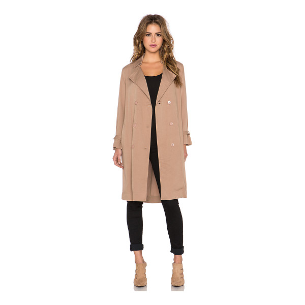 LUCCA COUTURE Trench coat - 100% rayon. Hand wash cold. Front double breasted button...