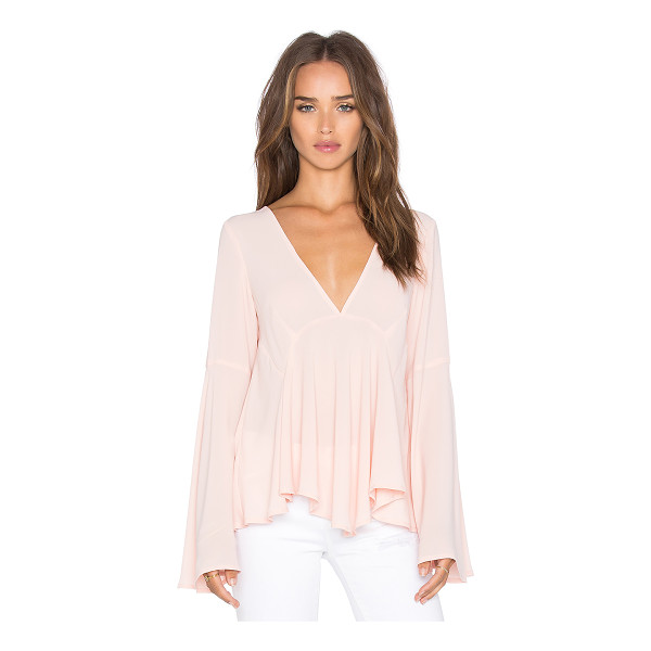 LUCY PARIS Bell Sleeve Top - 100% poly. Hand wash cold. Back keyhole with button...