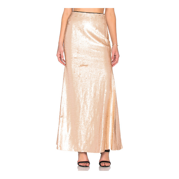 LUCY PARIS Sequin mermaid maxi skirt - Shell & Lining: 100% poly. Hand wash cold. Fully lined....
