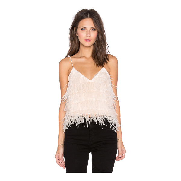 LUCY PARIS Tiny dancer feather cami - Self: 100% polyLining: 95% poly 5% spandex. Dry clean only....