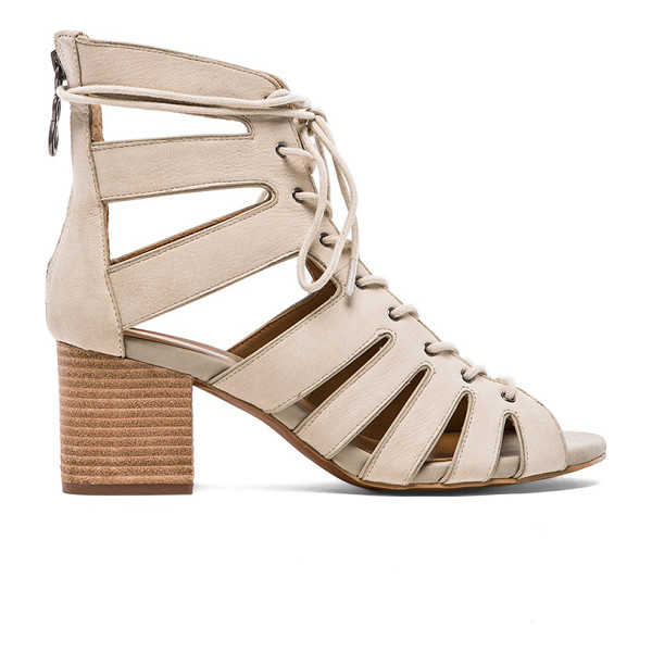 """LUXURY REBEL Ambretta sandal - Leather upper with man made sole. Heel measures approx 2""""""""..."""