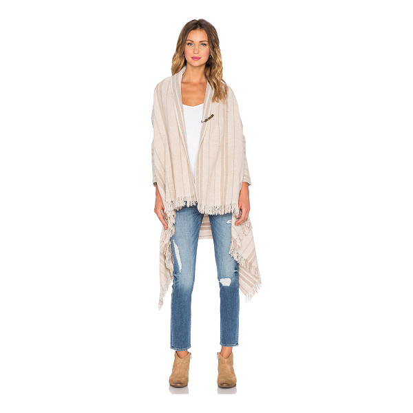 MAISON SCOTCH Wool poncho cardigan - Acrylic blend. Hand wash cold. Draped open front....
