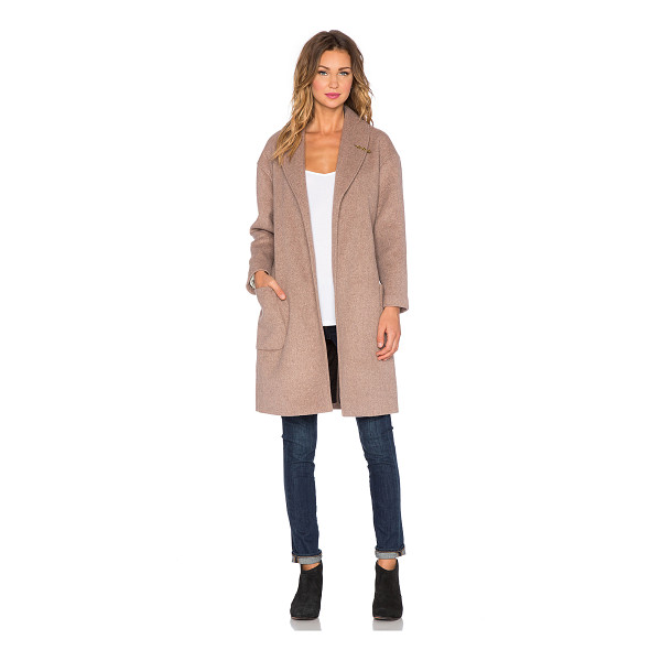 MAISON SCOTCH Wrapover wool robe jacket - Wool blend. Dry clean only. Waist tie front closure. Front...