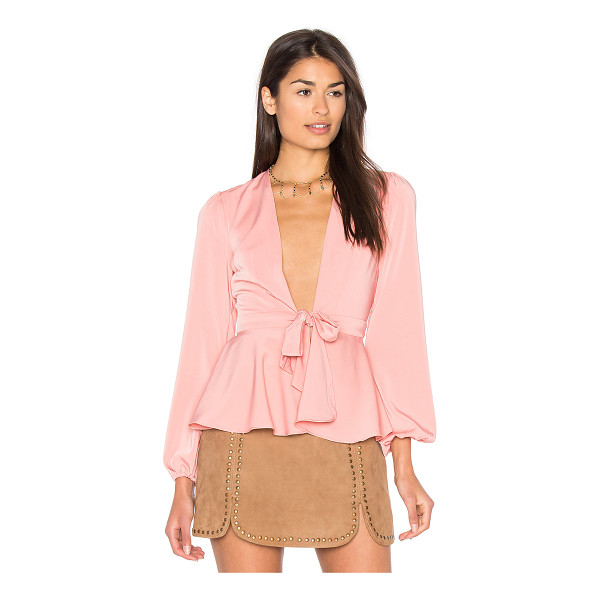 MAJORELLE Lea Top - The classic wrap top meets ultra-femme appeal in the...