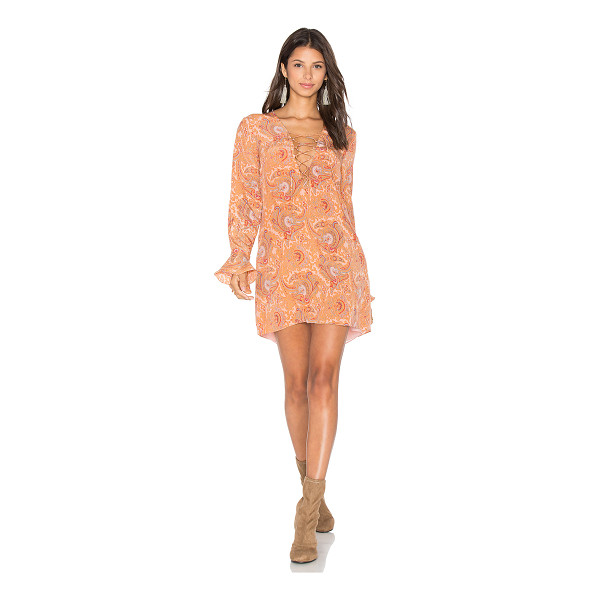 MAJORELLE Roundup Dress - Silk blend. Dry clean only. Fully lined. Lace-up front with...