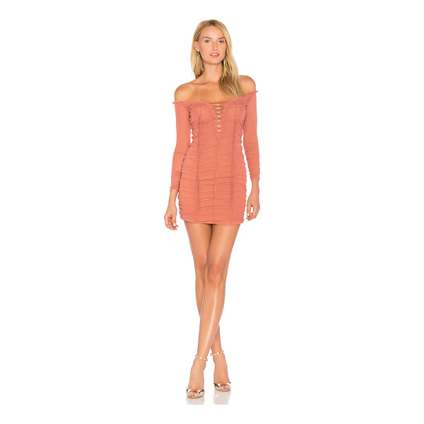 MAJORELLE Darling Dress - A delicate fabrication is contrasted by sexy appeal in the...
