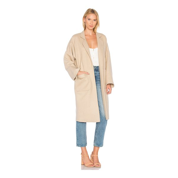 MARA HOFFMAN Rita Coat - Wool blend. Dry clean only. Open front. Front pockets....