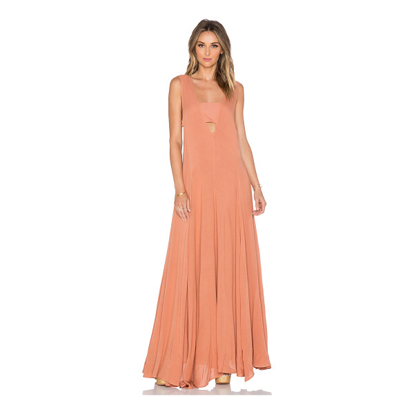 MARA HOFFMAN V-neck maxi dress - 100% rayon. Dry clean only. Unlined. Cut-out detail....