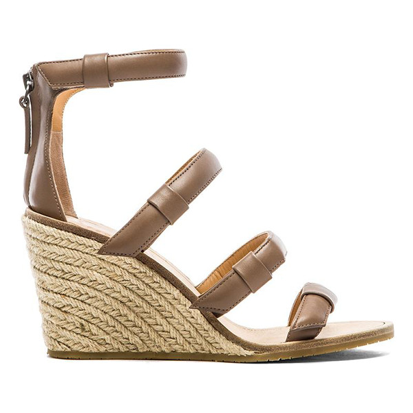 "MARC BY MARC JACOBS 85 mm sandal espadrille wedge - Leather upper with rubber sole. Wedge measures approx 3.5""""..."