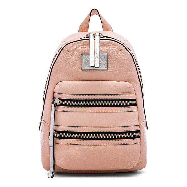 MARC BY MARC JACOBS Domo biker backpack - Leather exterior with cotton fabric lining. Adjustable...