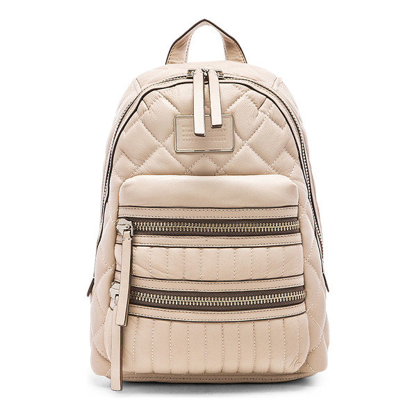 MARC BY MARC JACOBS Domo biker quilted backpack - Quilted leather exterior with cotton fabric lining....