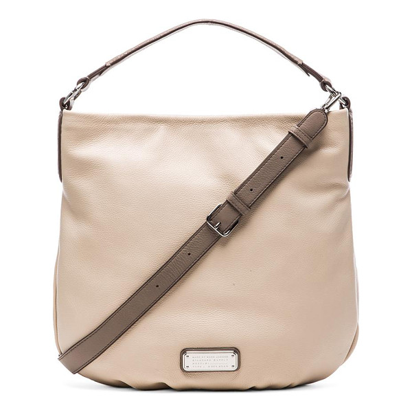 """MARC BY MARC JACOBS New q hillier hobo - Leather exterior with fabric lining. Measures approx 15"""""""" W..."""