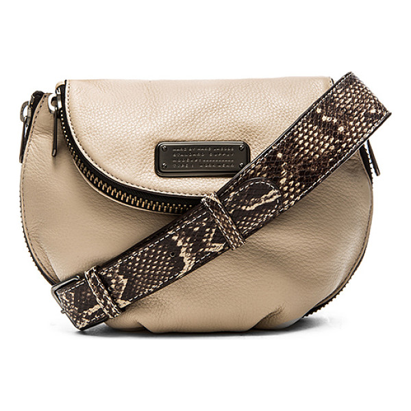 MARC BY MARC JACOBS New q zippers mini natasha crossbody bag - Leather exterior with cotton fabric lining. Adjustable...