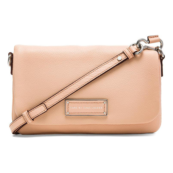 MARC BY MARC JACOBS Too hot to handle flap percy bag - Leather exterior with jacquard fabric lining. Measures...