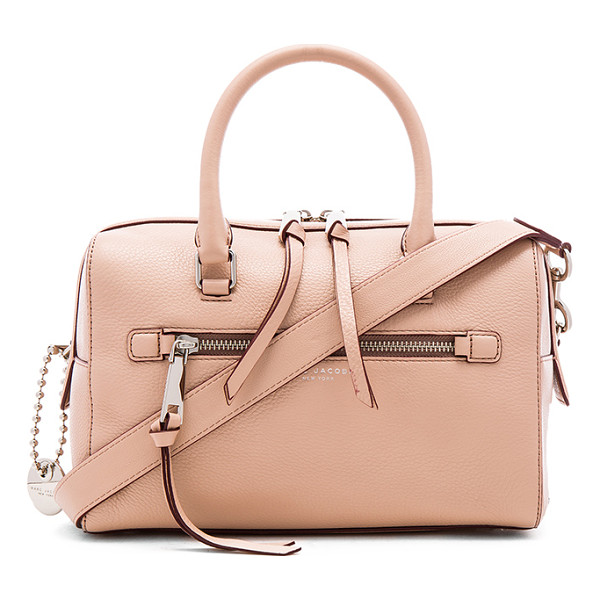 MARC JACOBS Recruit bauletto bag - Leather exterior with nylon fabric lining. Zip top closure....