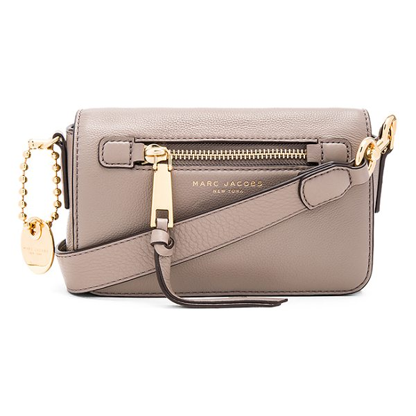 MARC JACOBS Recruit Crossbody - Leather exterior with nylon fabric lining. Flap top with...
