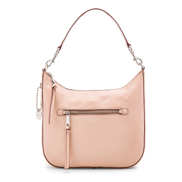 MARC JACOBS Recruit Hobo Shoulder Bag - Leather exterior with nylon fabric lining. Zip top closure....