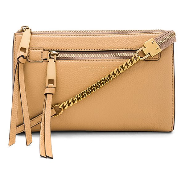 MARC JACOBS Recruit Small Crossbody - Leather exterior with nylon fabric lining. Zip top closure....