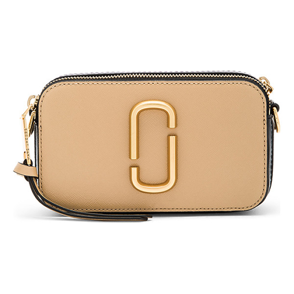 MARC JACOBS Snapshot Bag - Leather exterior with nylon fabric lining. Double zip top...
