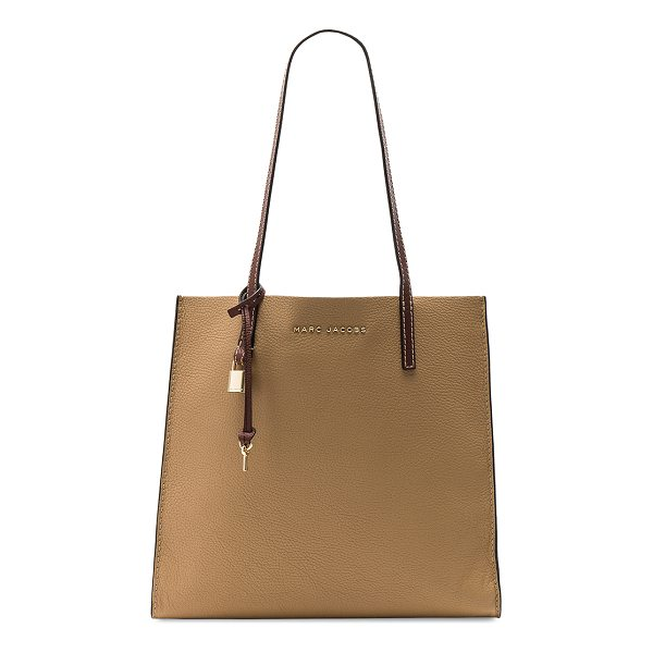 "MARC JACOBS The Grind Colorblocked Tote - ""Leather exterior with nylon fabric lining. Open top. Dual..."