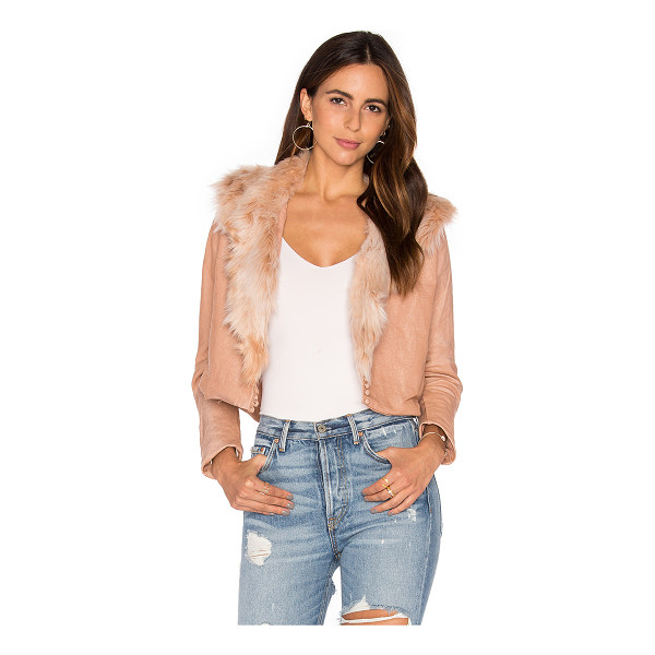 MARIA STANLEY Harlow Jacket with Faux Fur Collar - Self: 100% linenFaux Fur Collar: 100% acrylicLining: 100%...