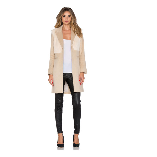 MASON BY MICHELLE MASON Goat fur coat - Self: 40% acrylic 30% poly 22% wool 5% nylon 3% cottonFur:...