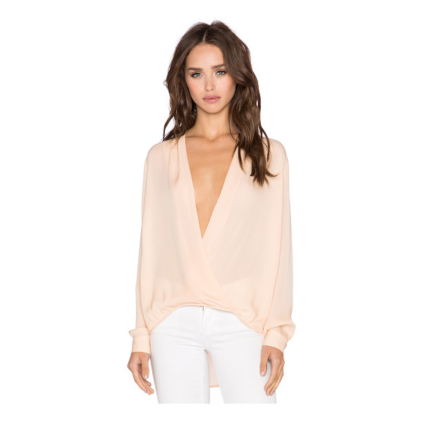 MASON BY MICHELLE MASON X revolve wrap blouse - 100% silk. Dry clean only. Surplice neckline with snap...