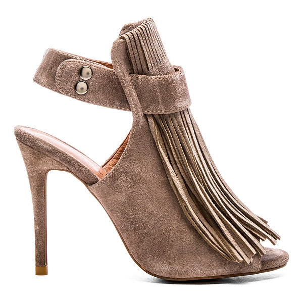 MATIKO Lainey heel - Suede upper with man made sole. Fringe detail. Snap button...