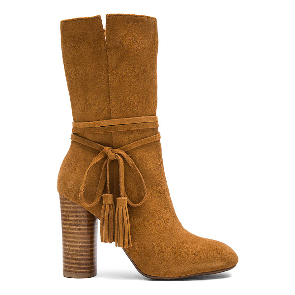 MATIKO Miranda Booties - Suede upper with man made sole. Side zip closure. Wrap...